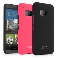 Пластиковый матовый непрозрачный чехол повышенной шероховатости для HTC One M9