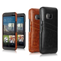 Дизайнерский кожаный чехол накладка с отделениями для карт для HTC One M9