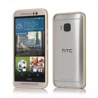 Металлический бампер для HTC One M9 Бежевый