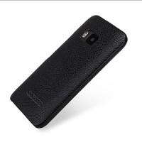 Кожаный чехол накладка (нат. кожа) серия Back Cover для HTC One M9