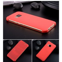 Точечный чехол смарт-флип с функциями оповещения для HTC One M9 Красный