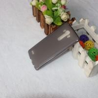 Силиконовый матовый полупрозрачный чехол для LG G4 Черный