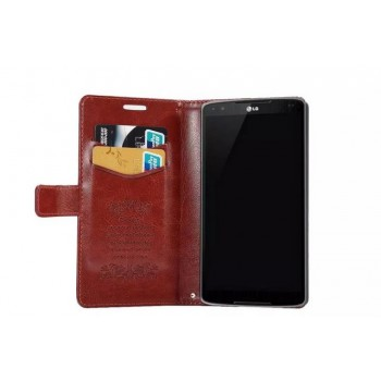 Чехол портмоне подставка на пластиковой основе с магнитной застежкой для LG G4