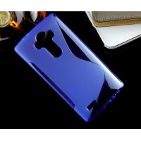 Силиконовый S чехол для LG G4 Синий