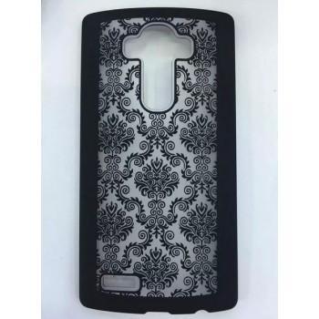 Пластиковый матовый орнаментальный чехол для LG G4