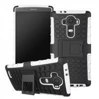 Силиконовый чехол экстрим защита для LG G4 Белый