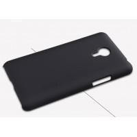Пластиковый матовый нескользящий премиум чехол для Meizu MX4 Pro Черный
