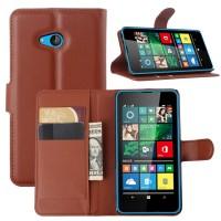 Чехол портмоне подставка с защелкой для Microsoft Lumia 640 Коричневый