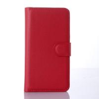 Чехол портмоне подставка с защелкой для Microsoft Lumia 640 Красный
