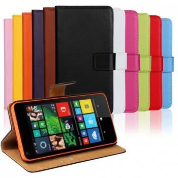 Чехол портмоне подставка с защелкой для Microsoft Lumia 640