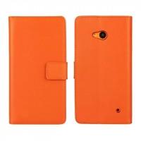 Чехол портмоне подставка с защелкой для Microsoft Lumia 640 Оранжевый