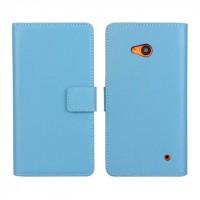 Чехол портмоне подставка с защелкой для Microsoft Lumia 640 Голубой