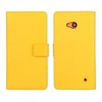 Чехол портмоне подставка с защелкой для Microsoft Lumia 640 Желтый