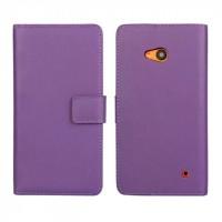 Чехол портмоне подставка с защелкой для Microsoft Lumia 640 Фиолетовый