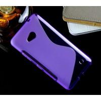Силиконовый S чехол для Microsoft Lumia 640 Фиолетовый