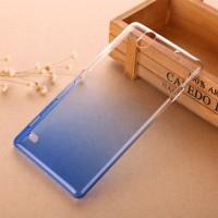 Пластиковый градиентный полупрозрачный чехол для Sony Xperia C4 Синий