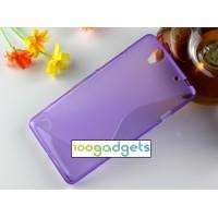Силиконовый S чехол для Sony Xperia C4 Фиолетовый