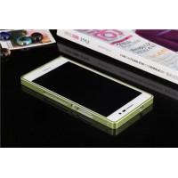Металлический бампер для Huawei Ascend P7 Зеленый