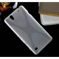 Силиконовый X чехол для Sony Xperia C4 Серый