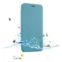 Чехол флип на пластиковой нескользящей матовой основе для Asus Zenfone 2 5 Голубой