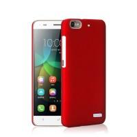 Пластиковый матовый непрозрачный чехол для Huawei Honor 4C Красный