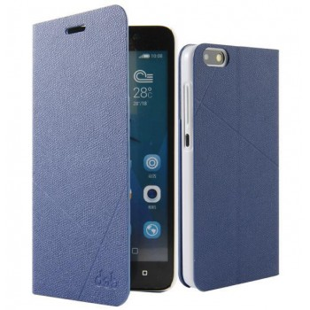 Текстурный чехол флип подставка на пластиковой основе для Huawei Honor 4C