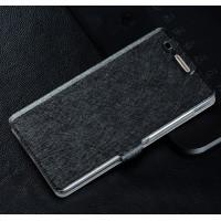 Текстурный чехол флип подставка на пластиковой основе для Huawei Honor 4C Черный