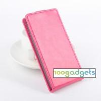 Чехол вертикальная книжка на силиконовой основе с магнитной застежкой для LG Magna Пурпурный