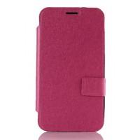 Дизайнерский чехол флип подставка с защелкой на силиконовой основе для Asus Zenfone 2 Пурпурный