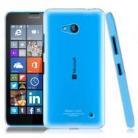 Пластиковый транспарентный чехол для Microsoft Lumia 640 Белый