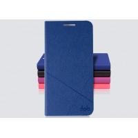 Текстурный чехол флип подставка с внутренним карманом для ZTE Grand S 2