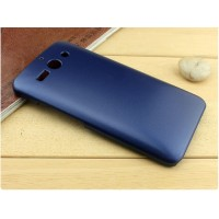 Пластиковый матовый металлик чехол для ZTE Grand S 2 Синий