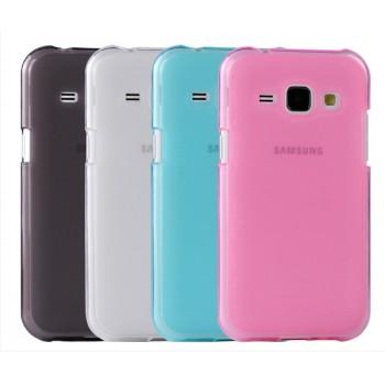 Силиконовый матовый полупрозрачный чехол для Samsung J1