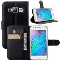 Чехол портмоне подставка с защелкой для Samsung J1 Черный