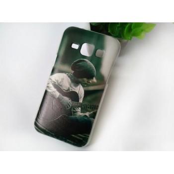 Силиконовый дизайнерский чехол с принтом для Samsung J1