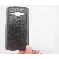 Пластиковый матовый чехол текстура Крокодил для Samsung J1