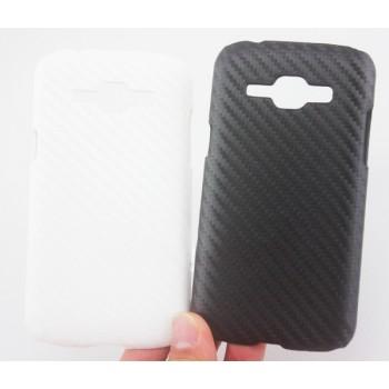 Пластиковый матовый чехол с карбоновым покрытием для Samsung J1