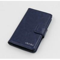 Чехол портмоне подставка на силиконовой основе с магнитной защелкой для Alcatel One Touch Idol 3 (4.7) Синий