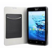 Чехол флип подставка на силиконовой основе с внутренним карманом для Acer Liquid Z520