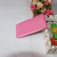 Силиконовый матовый полупрозрачный чехол для Microsoft Lumia 540 Розовый