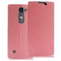 Текстурный чехол флип подставка на присоске для LG Spirit Розовый
