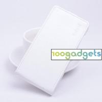 Чехол вертикальная книжка на силиконовой основе с магнитной застежкой для ZTE Blade S6/S6 Lite Белый