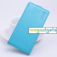 Чехол вертикальная книжка на силиконовой основе с магнитной застежкой для ZTE Blade S6/S6 Lite Голубой