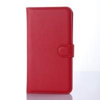 Чехол портмоне подставка с защелкой для Microsoft Lumia 640 XL Красный