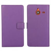 Чехол портмоне подставка с защелкой для Microsoft Lumia 640 XL Фиолетовый