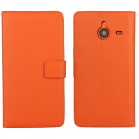Чехол портмоне подставка с защелкой для Microsoft Lumia 640 XL Оранжевый