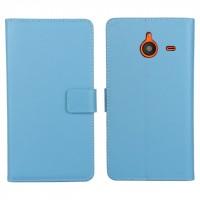 Чехол портмоне подставка с защелкой для Microsoft Lumia 640 XL Голубой