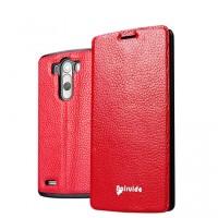 Чехол флип глянцевая зернистая кожа для LG Optimus G3 Красный
