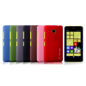 Пластиковый матовый чехол с повышенной шероховатостью для Nokia Lumia 630/635