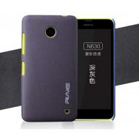Пластиковый матовый чехол с повышенной шероховатостью для Nokia Lumia 630/635 Серый